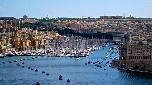 Valletta Harbor with Barrakka Gardens