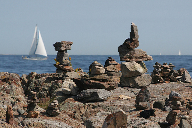 Balanced Rocks and Sailboat