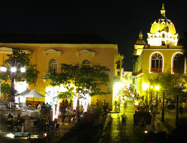 Cartagena at night