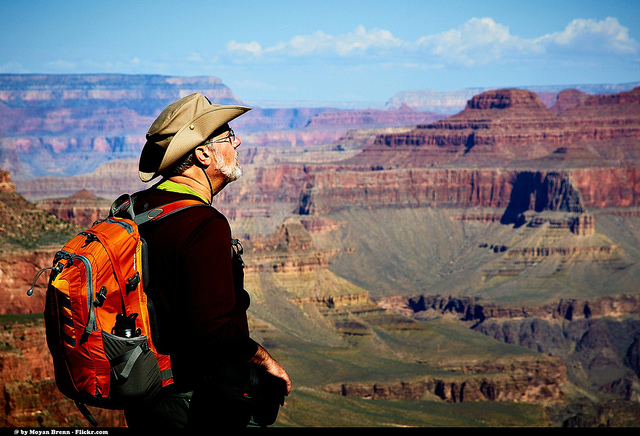 Hiker at Grand Canyon