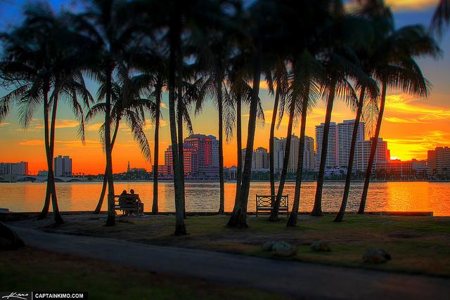 Sunset at Palm Beach Island