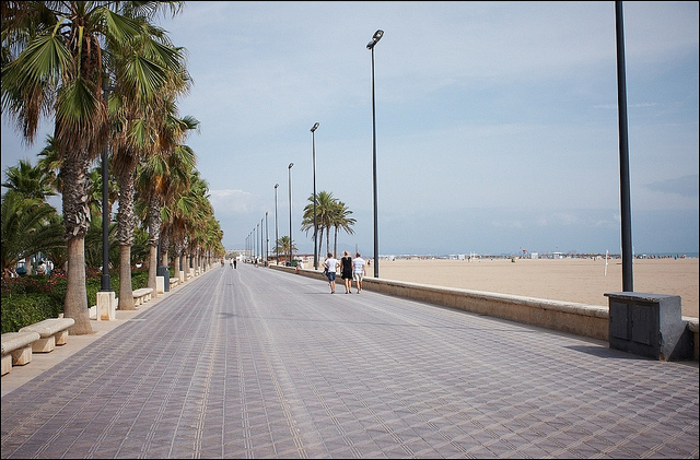 Valencia beach walk